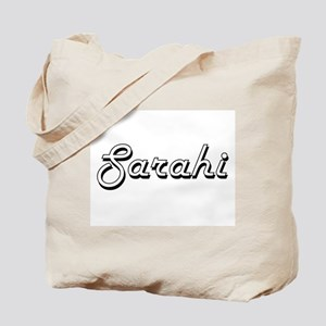 Sarahi Classic Retro Name Design Tote Bag